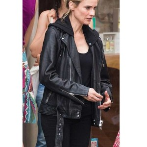 The 355 Jessica Chastain Leather Jacket