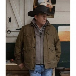 John Dutton Yellowstone Season 2 Brown Jacket
